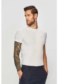 Diesel - T-shirt (3 pack). Kolor: biały. Materiał: dzianina