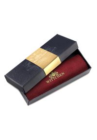 Wittchen - Etui na klucze skórzane z brelokiem. Kolor: czerwony. Materiał: skóra. Wzór: aplikacja