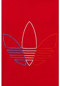 adidas Originals - T-shirt. Okazja: na co dzień, na plażę. Kolor: czerwony. Materiał: dzianina, materiał. Wzór: aplikacja. Styl: casual