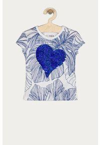Niebieska bluzka z krótkim rękawem Desigual casualowa, na co dzień