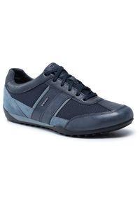 Geox Sneakersy U Wells C U52T5C 0CL11 C4585 Granatowy. Kolor: niebieski
