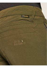 Zielone spodenki sportowe Jack Wolfskin