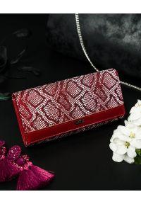 4U CAVALDI - Portfel damski czerwony CAVALDI GD24-11 RED. Kolor: czerwony. Materiał: skóra ekologiczna. Wzór: aplikacja