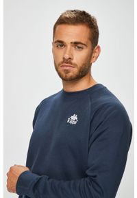 Niebieska bluza nierozpinana Kappa bez kaptura, casualowa, na co dzień #4