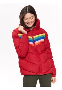 Czerwona kurtka TROLL na zimę, krótka