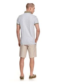 Beżowy t-shirt TOP SECRET polo