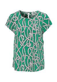 Cellbes Bluzka we wzory z krótkim rękawem zielony we wzory female zielony/ze wzorem 54/56. Kolor: zielony. Materiał: tkanina. Długość rękawa: krótki rękaw. Długość: krótkie. Styl: elegancki