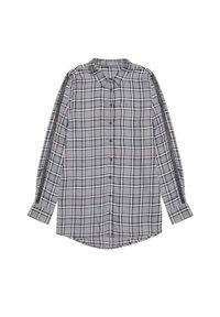 Koszula MOODO długa, w kratkę, z długim rękawem