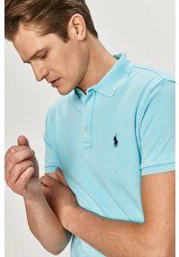 Niebieska koszulka polo Polo Ralph Lauren casualowa, gładkie, na co dzień, polo