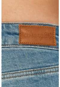 Niebieskie jeansy bootcut Wrangler gładkie