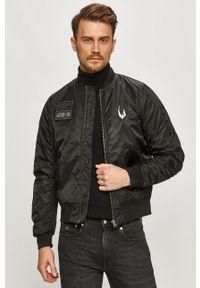 Czarna kurtka Element z motywem z bajki, bez kaptura, casualowa