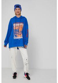medicine - Medicine - Bluza bawełniana Unisex. Kolor: niebieski. Materiał: bawełna. Wzór: nadruk