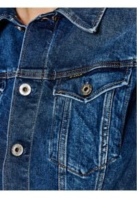 G-Star RAW - G-Star Raw Kurtka jeansowa Elto Pure Stretch D17437-C052-A951 Granatowy Slim Fit. Kolor: niebieski. Materiał: jeans