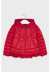 Czerwona kurtka Mayoral z kapturem, casualowa, na co dzień