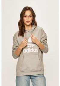adidas Originals - Bluza. Typ kołnierza: kaptur. Kolor: szary. Materiał: dzianina