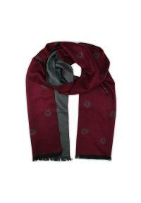 Czerwony szalik Adriano Guinari na zimę, elegancki
