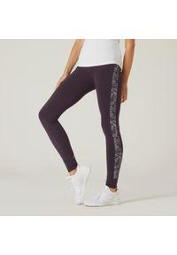NYAMBA - Legginsy fitness. Kolor: fioletowy. Materiał: włókno, bawełna, materiał. Sport: fitness #1
