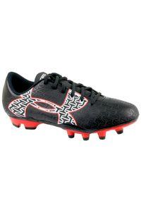 Czarne buty do piłki nożnej Under Armour w kolorowe wzory, z cholewką