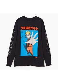 Cropp - Koszulka longsleeve Naruto Shippuden - Czarny. Kolor: czarny. Długość rękawa: długi rękaw