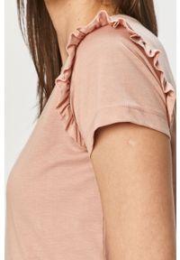 Różowa bluzka Vila casualowa, na co dzień, gładkie #4