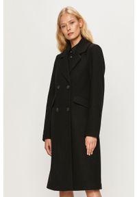 Czarny płaszcz only na co dzień, bez kaptura, klasyczny