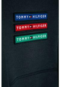 Niebieska bluza TOMMY HILFIGER bez kaptura, casualowa, z aplikacjami, na co dzień #3