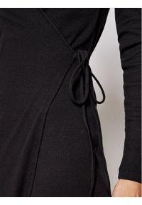 Samsoe & Samsoe - Samsøe Samsøe Sweter Sarai Wrap F00002135 Czarny Regular Fit. Kolor: czarny #4