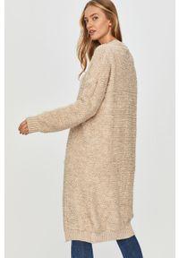 Beżowy sweter rozpinany Answear Lab długi, z długim rękawem