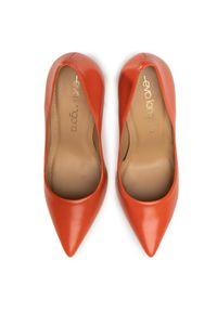 Pomarańczowe półbuty Eva Longoria na szpilce, z cholewką