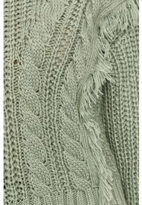 Miętowy sweter Answear Lab długi, z długim rękawem, na co dzień