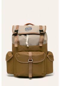 Brązowy plecak Pepe Jeans z aplikacjami