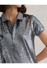 Ralph Lauren - RALPH LAUREN - Sukienka mini Straight fit. Typ kołnierza: polo. Kolor: szary. Materiał: materiał. Długość: mini