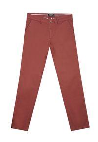 TOP SECRET - Spodnie typu chino slim fit. Okazja: do pracy, na co dzień. Kolor: czerwony. Sezon: wiosna. Styl: elegancki, casual