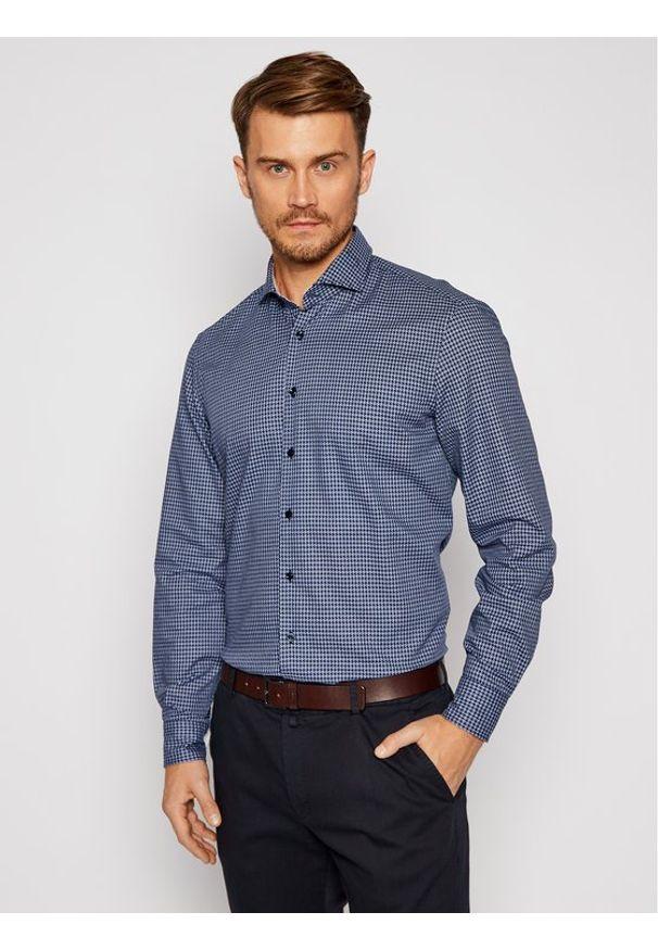 Baldessarini Koszula Henry 10003/000/1005 Granatowy Regular Fit. Kolor: niebieski