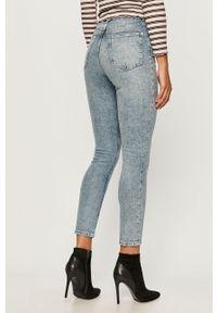 Niebieskie jeansy TALLY WEIJL z podwyższonym stanem, casualowe, na co dzień