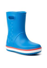 Crocs Kalosze Crocband Rain Boot K 205827 Niebieski. Kolor: niebieski