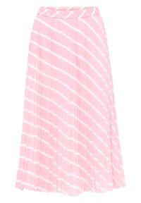 Różowa spódnica bonprix z nadrukiem
