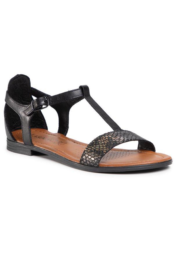 Czarne sandały Lasocki na co dzień, casualowe