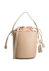 Beżowa torebka klasyczna Kazar na lato