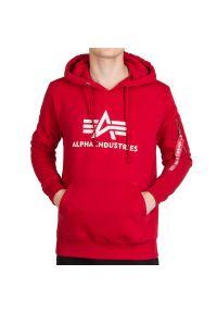 Alpha Industries - ALPHA INDUSTRIES BASIC HOODY > 128341328. Materiał: bawełna, poliester. Wzór: nadruk