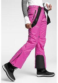 Różowe spodnie narciarskie 4f z nadrukiem