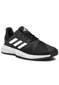 Czarne półbuty Adidas z cholewką, casualowe, na co dzień