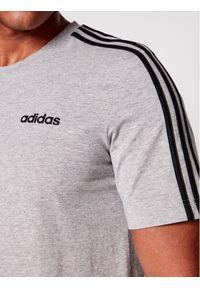Adidas - adidas T-Shirt Essentials 3-Stripes DU0442 Szary Regular Fit. Kolor: szary