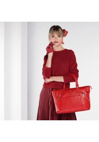 Czerwona shopperka Wittchen