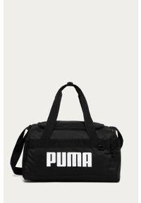 Czarna torba podróżna Puma z nadrukiem