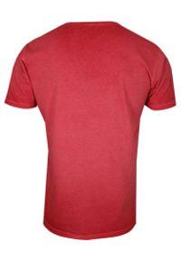 Brave Soul - Czerwony T-Shirt (Koszulka) Bez Nadruku -BRAVE SOUL- Męski, Okrągły Dekolt, Krótki Rękaw. Okazja: na co dzień. Kolor: czerwony. Materiał: bawełna. Długość rękawa: krótki rękaw. Długość: krótkie. Styl: casual