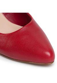 Czerwone półbuty Lasocki z cholewką, eleganckie