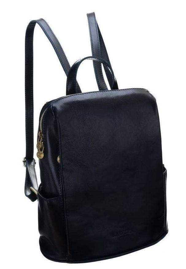 Plecak w stylu vintage granatowy Badura T_D187GR_CD. Kolor: niebieski. Materiał: skóra. Styl: vintage