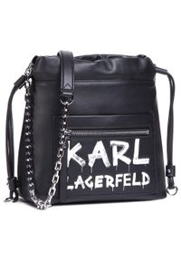 Czarna torebka worek Karl Lagerfeld