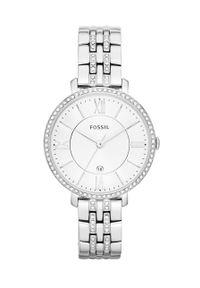 Fossil - Zegarek ES3545. Kolor: srebrny. Materiał: materiał. Styl: klasyczny